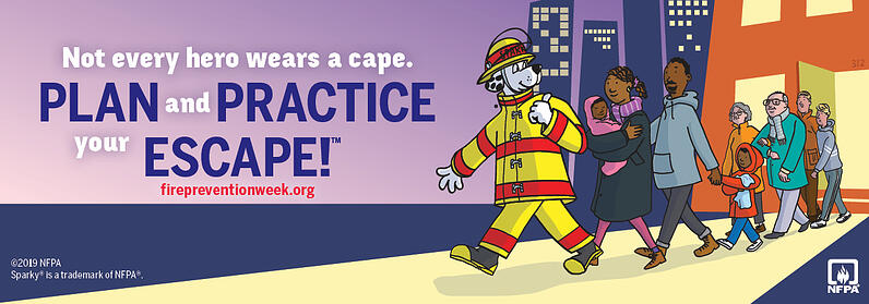 Fire Prevention Week 2019 Promotional Image
